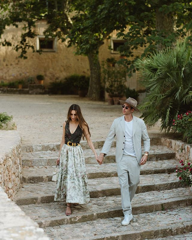 Rachel and Derek looking amazing at their rehearsal dinner in Mallorca. So excited to be working through all the images from this truly special wedding with the @lisavorce team. Also, can't get over Rachel's @dior dress.